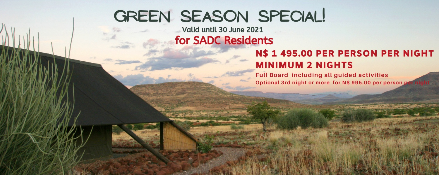 SADC Special offer for Etendeka, situated in the Kunene Region in Namibia